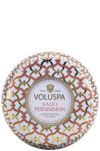 Voluspa 2-wick In Tin 50tim Saijo Persimon