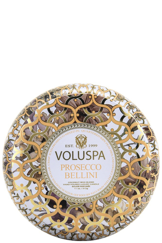 Voluspa 2-wick In Tin 50tim Prosecco Bellin