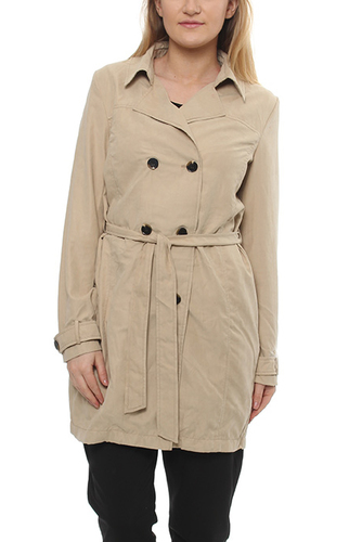 Viemmely Mid Trenchcoat Soft Camel