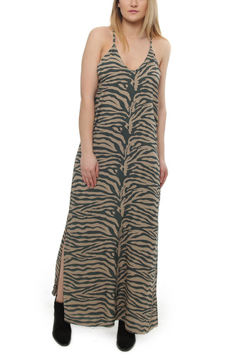 Dusty Long Dress Zebra