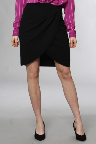 Selected Femme Slfvira Mw Skirt B Black
