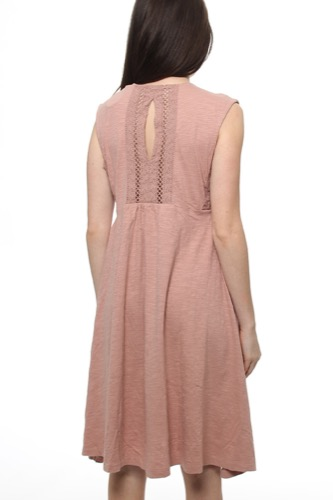 Odd Molly Surf Shack Dress Rose Taupe
