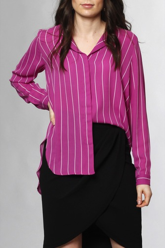 Selected Femme Slfdynella Ls Shirt Clover Orchid