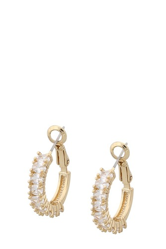 Snö of Sweden Kathy Ring Ear Gold Clear