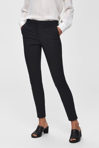 Selected Femme Slfmuse Fie Cropped Pant Black