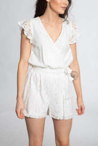 Dry Lake Megan Playsuit White Lace