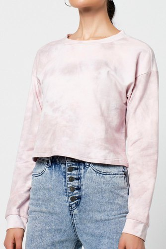 Rut & Circle Celine Short Sweater Pink Tie Dye