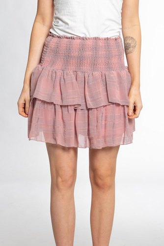 Neo Noir Carin Check Skirt Powder