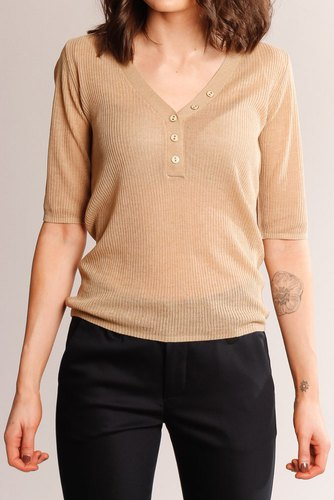 Vila Viwola Knit V-neck Top Nomad