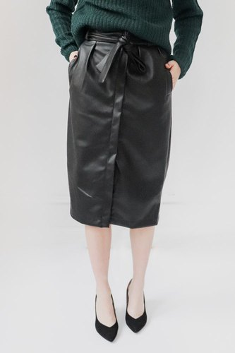Vila Vipulla Hw Skirt Black