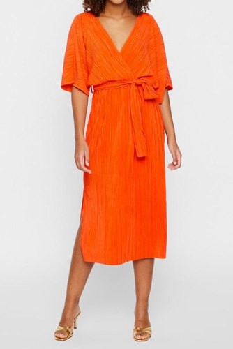 YAS Yasolinda S/s Midi Dress Tigerlily