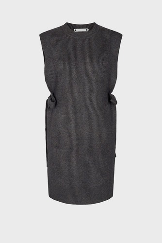 CO'COUTURE Anisa Slit Vest Dark Grey