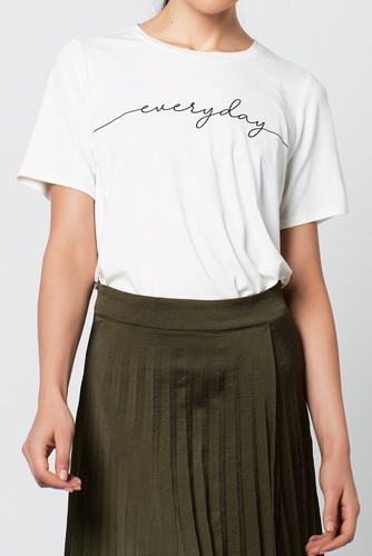 Rut & Circle Amy Tee White
