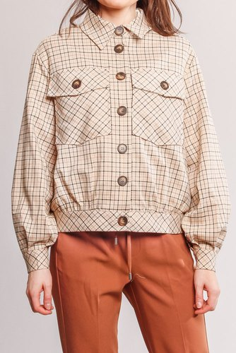 CO'COUTURE New Rosalie Check Jacket Bone