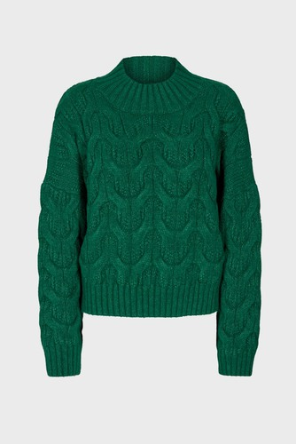 CO'COUTURE Jenesse Cable Knit Green
