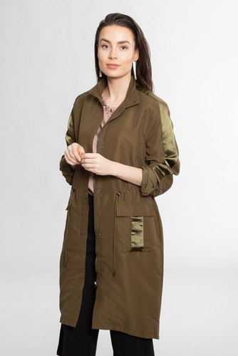 Vila Vifresia Long Parka Dark Olive