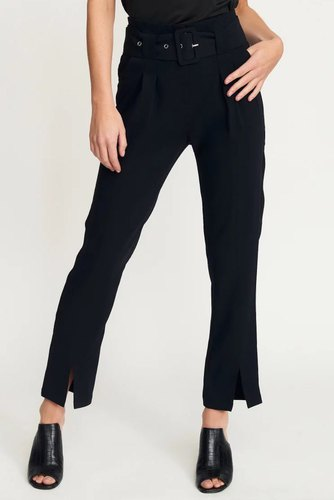Rut & Circle Nina Belt Pant Black