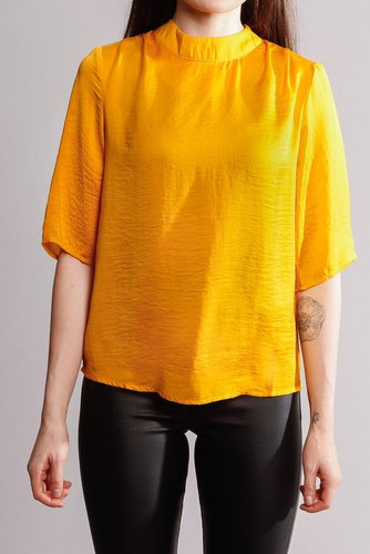 Rut & Circle Maria Ss Blouse Mellow Yellow
