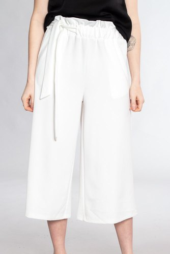 Vila Viloan Hw Cropped Pant Cloud Dancer