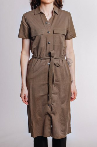 Vila Visafina S/s Shirt Dress Dark Olive