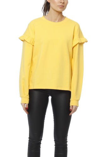 Selected Femme Sfjody Ls Sweat Ex Solar Power