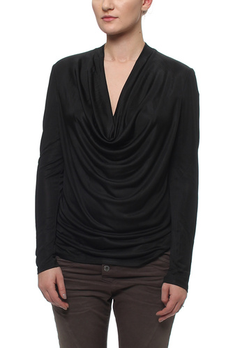 VIKOLL L/S TOP BLACK