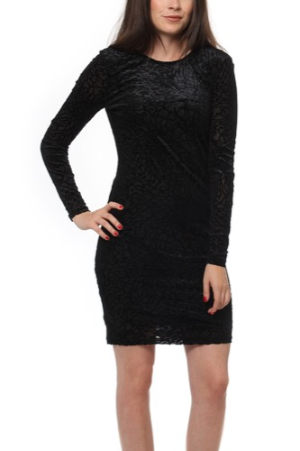Selected Femme SFMILA LS DRESS BLACK