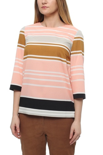 BLOUSE W STRIPES CORAL PINK