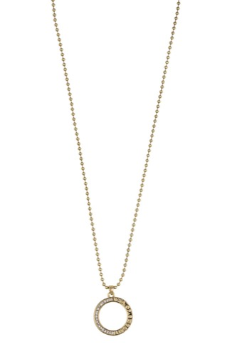 Snö of Sweden COLLINE PENDANT NACK 42 GOLD/CLEAR