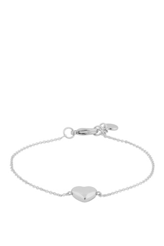 Snö of Sweden SMALL HEART CHAIN BRACE PLAIN SILVER