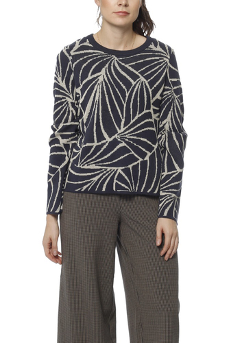 Vila Viminya Knit Jacquard Top Total Eclipse