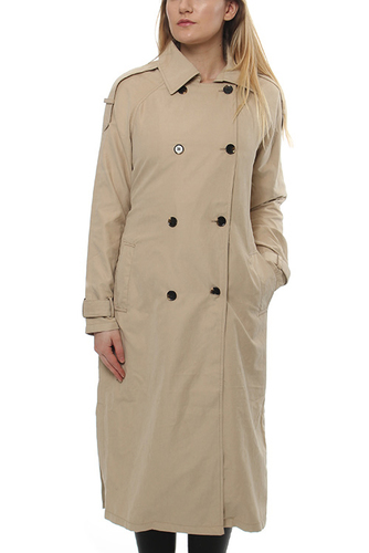 VIMELLY LONG TRENCHCOAT SOFT CAMEL