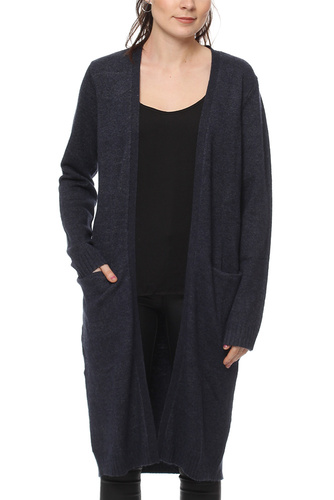 Vila VIRIL LONG KNIT CARDIGAN ECLIPSE MELANGE