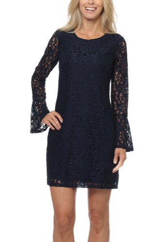 Dry Lake MYSTERY WIDE SLEEVE DRESS NAVY