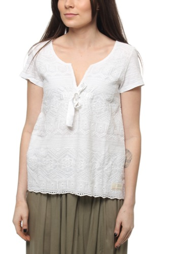 Over The Top S/s Top Bright White