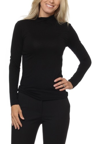 Selected Femme SF MIO L/S HIGHNECK BLACK