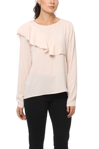 Vila VIRIDA L/S TOP/TB PEACH BLUSH