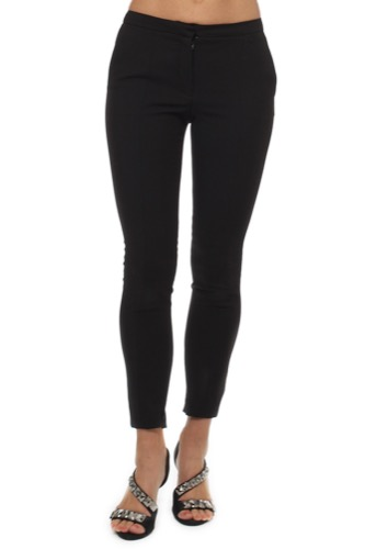 Selected Femme SFMUSE CROPPED MW PANT BLACK