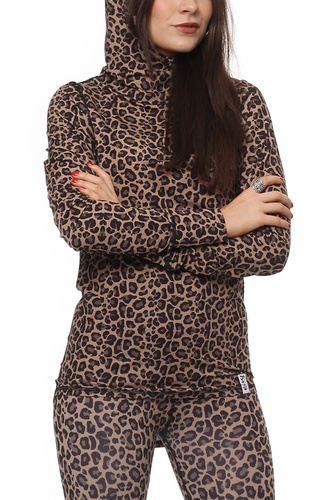 Eivy ICECOLD HOOD TOP LEOPARD