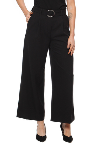 Selected Femme Sfaila Hw Cropped Pant Ex Black