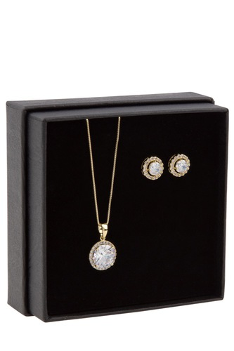 Snö of Sweden Gift Neck Set Lex Gold Clear