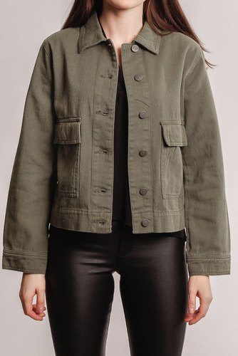 Rut & Circle Lona Cargo Jacket Khaki Green