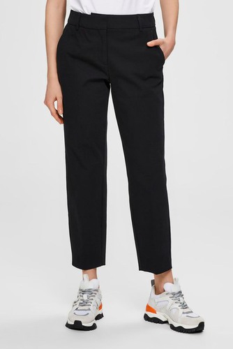 Selected Femme Slfria Mw Cropped Pant Black