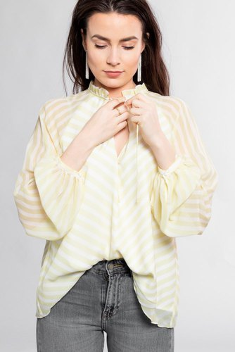 Notes du Nord Kennedy Blouse Lemon Stripe