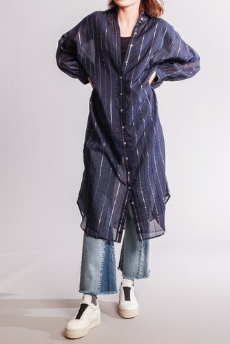 CO'COUTURE Nyla Shirt Stripe Dress Navy