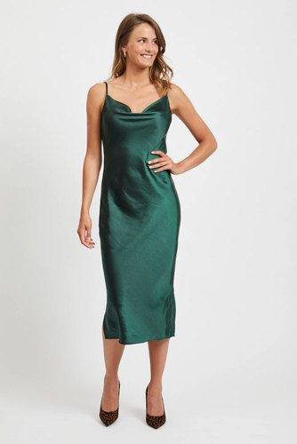 Vila Vimazara Midi Dress Pine Grove