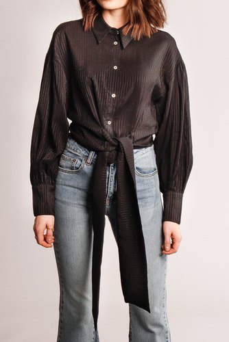 CO'COUTURE Remi Band Tie Shirt Black