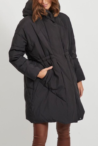 Vila Vicamisa Down Coat Black