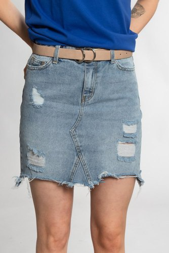 Vila Viannabel Denim Skirt Med. Blue Denim