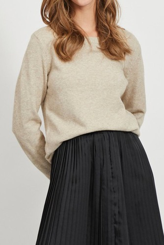 Vila Viril L/s O-neck Knit Top Nomad